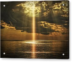 Laser Light Reflections Acrylic Print
