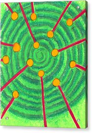 Laser Points On The Spiral Path Acrylic Print