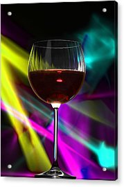 Laser Wine Acrylic Print by Dennis James