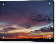 Last 2012 Sunrise Acrylic Print by Michael Waters