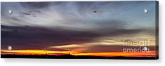Last 2012 Sunrise Panoramic Acrylic Print by Michael Waters