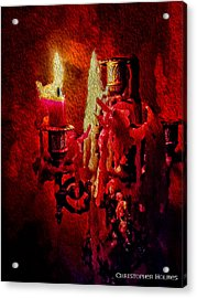 Last Candle Acrylic Print by Christopher Holmes