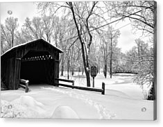 Acrylic Print featuring the photograph Last Covered Bridge by Joel Witmeyer