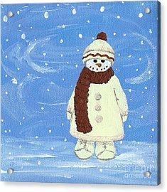 Last Decoration Snowman Acrylic Print by Lynn Babineau