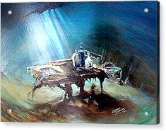 Last Dish Of The Ocean Acrylic Print by Ottilia Zakany