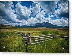 Last Dollar Ranch Acrylic Print by Darren  White