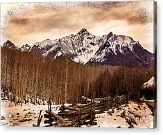 Last Dollar Road Winter Acrylic Print