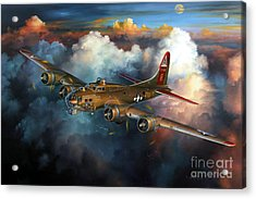 Last Flight For Nine-o-nine Acrylic Print by Randy Green