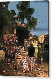 Last Fruit Wagon Of The Season Acrylic Print by J Griff Griffin