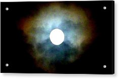 Last Full Cold Moon December 2012 Acrylic Print by Susan Garren