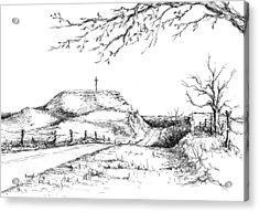 Last Hill Home Acrylic Print