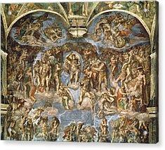 Last Judgement, From The Sistine Chapel, 1538-41 Fresco Acrylic Print