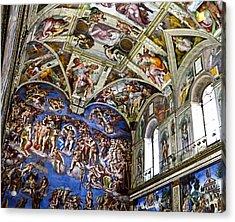 Last Judgement - Sistine Chapel Acrylic Print