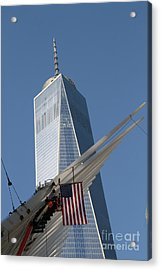 Last Large Wtc Oculus Rafter Raised Three Acrylic Print