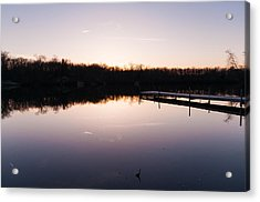 Last Light At Cleveland Pond Acrylic Print by Lee Costa