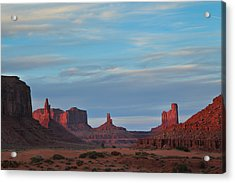 Acrylic Print featuring the photograph Last Light In Monument Valley by Alan Vance Ley