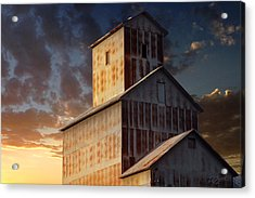 Last Light On Burns Elevator Acrylic Print