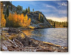 Last Light On Taylor Lake Acrylic Print by James Eddy