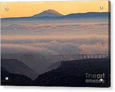 Last Light Over Mt. Adams Acrylic Print