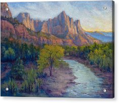 Last Light Zion Cznyon Acrylic Print