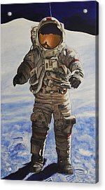 Last Man - Apollo 17 Acrylic Print by Simon Kregar