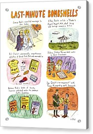 Last-minute Bombshells Acrylic Print by Roz Chast