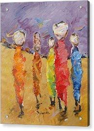 Last Of Nuba 2 Acrylic Print by Negoud Dahab