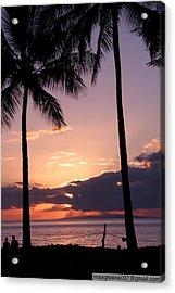 Last Of The Sun On Maui Acrylic Print