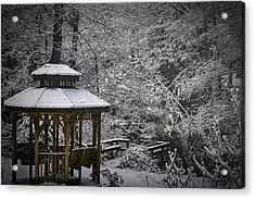 Last Snow Acrylic Print by Barry Jones