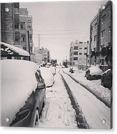 Last Snow In Amman,  Dec. 13 #beamman Acrylic Print