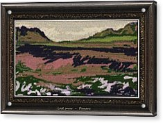 Acrylic Print featuring the painting Last Snow Lsn2 by Pemaro