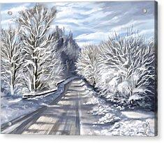 Last Snow Series N1 Acrylic Print by Veronica Minozzi