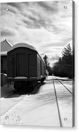 Last Stop Acrylic Print by Peter Chilelli