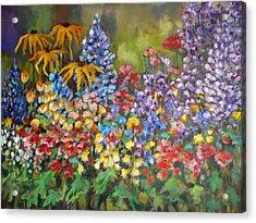 Last Summer's Flowers Acrylic Print