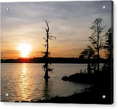 Acrylic Print featuring the photograph Last Sunset Of 2012 by Victor Montgomery