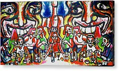 Last Supper Party The Present Vulgarity Acrylic Print