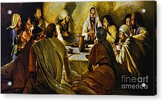 Last Supper Reproduction Acrylic Print by Al Bourassa
