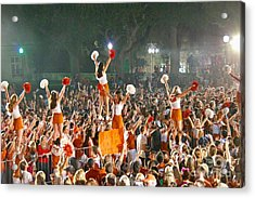 Last University Of Texas Hex Rally Acrylic Print