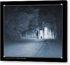 Last Walk With My Old Friend Acrylic Print by Pedro L Gili