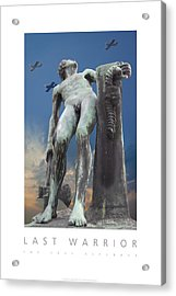 Acrylic Print featuring the digital art Last Warrior The Sole Defender Poster by David Davies