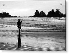 Last Wave Acrylic Print by Steve Raley