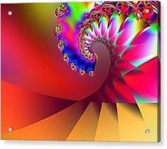 Last Wave - Sunset Acrylic Print by Wendy J St Christopher