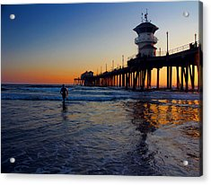 Last Wave Acrylic Print by Tammy Espino