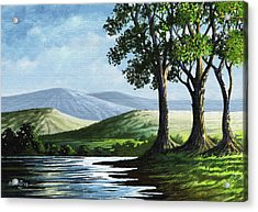 Acrylic Print featuring the painting Late Afternoon by Anthony Mwangi