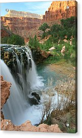 Late Afternoon At Little Navajo Falls  Acrylic Print