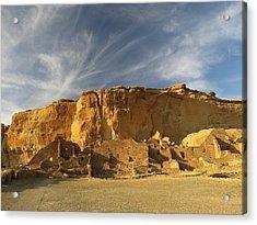 Late Afternoon In Pueblo Bonito Acrylic Print by Feva  Fotos