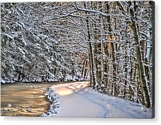 Late Afternoon In The Snow Acrylic Print