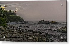 Late Afternoon Sun On West Quoddy Head Lighthouse Acrylic Print