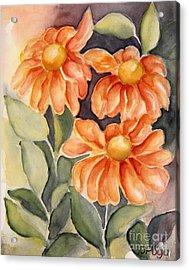 Late Autumn Flowers Acrylic Print