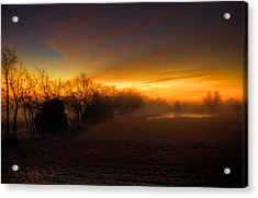 Late Autumn Sunrise Acrylic Print by Mark Alder